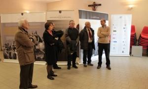 un momento dell'inaugurazione della mostra su San Tommaso Moro a Cassago Brianza